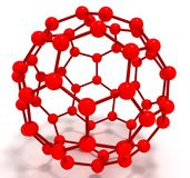 Molecule fulleren. 3d isolated on white Royalty Free Stock Photos