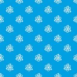 Molecule genetics pattern vector seamless blue. Repeat for any use Royalty Free Stock Image