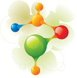 Molecule green. And color circle Royalty Free Stock Photo