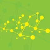 Molecule green background Stock Photos