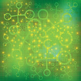 Molecule green background Royalty Free Stock Photos