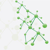 Molecule green silver background Stock Image