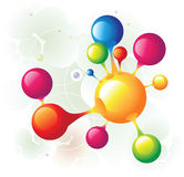 Molecule group. And color circle Royalty Free Stock Photos