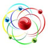 Molecule icon. Colorful molecule icon. Vector illustration Royalty Free Stock Photo