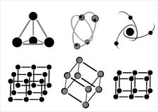 Molecule icon Royalty Free Stock Image