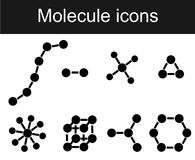 Molecule icon Stock Photography