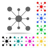 Molecule icon. Elements in multi colored icons for mobile concept and web apps. Icons for website design and development, app deve Stock Image