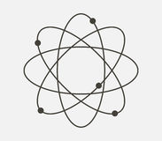 Molecule icon illustrated Stock Photography
