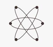Molecule icon illustrated Stock Photos