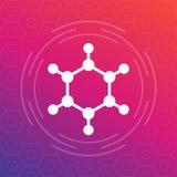 Molecule icon, vector logo element. Eps 10 file, easy to edit Royalty Free Stock Image