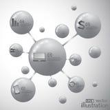 Molecule icon vector. Modern design template Stock Photos