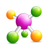 Molecule icon Royalty Free Stock Photography