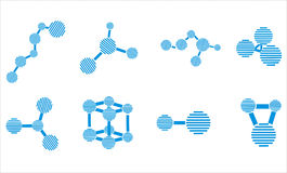 Molecule icons Stock Images