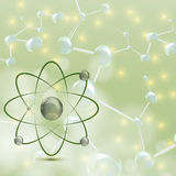 Molecule illustration green Stock Photos