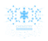 Molecule illustration Royalty Free Stock Photos