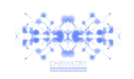 Molecule illustration Royalty Free Stock Photo