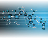 Molecule illustration Royalty Free Stock Images