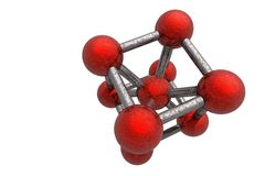 Molecule Illustration Stock Photography