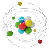 Molecule. Isolated render on a white background Stock Photography