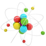Molecule. Isolated render on a white background Royalty Free Stock Photo