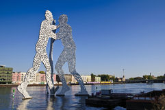 Molecule man in berlin Stock Image