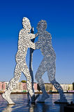 Molecule man in berlin Stock Photos