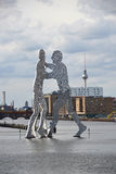 MOLECULE MAN sculpture IN BERLIN Stock Photo