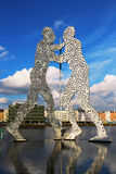 Molecule Man sculpture on the Spree river in Berlin Royalty Free Stock Images