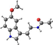 Molecule of Melatonin isolated on white vector illustration