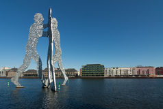 Molecule Men on the left Stock Photos
