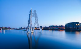 Molecule Men and River Spree Royalty Free Stock Photography