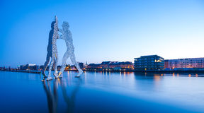 Molecule Men and River Spree Stock Image