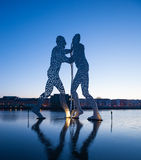 Molecule Men and River Spree Stock Photo