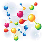 Molecule mixed. And color circle Royalty Free Stock Image