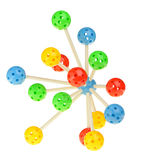 Molecule model Royalty Free Stock Photos