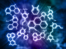 Molecule model Royalty Free Stock Images