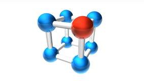 Molecule module. Eight nodes colored set Stock Photo
