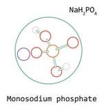Molecule NaH2PO4 Monosodium phosphate Stock Photos