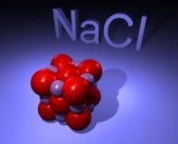Molecule of natrium chloride - salt Royalty Free Stock Image