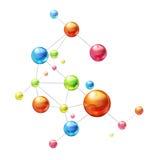 Molecule op wit royalty-vrije illustratie