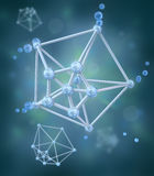 Molecule over chemical background stock illustration