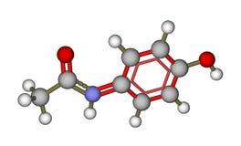 Molecule of paracetamol (acetaminophen) Royalty Free Stock Photos