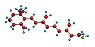 Molecule of retinol Stock Image