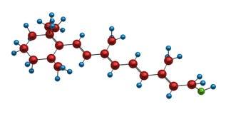Molecule of retinol Stock Image