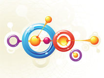 Molecule rings. Color molecule rings and vector Royalty Free Stock Photos
