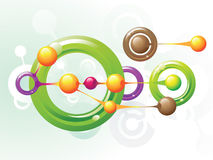 Molecule rings. Color molecule rings and vector Stock Image