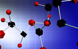 Molecule samples Royalty Free Stock Photography