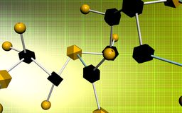Molecule samples Royalty Free Stock Photos