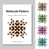 Molecule science pattern brochure template Stock Photography