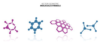 Molecule set Royalty Free Stock Photos